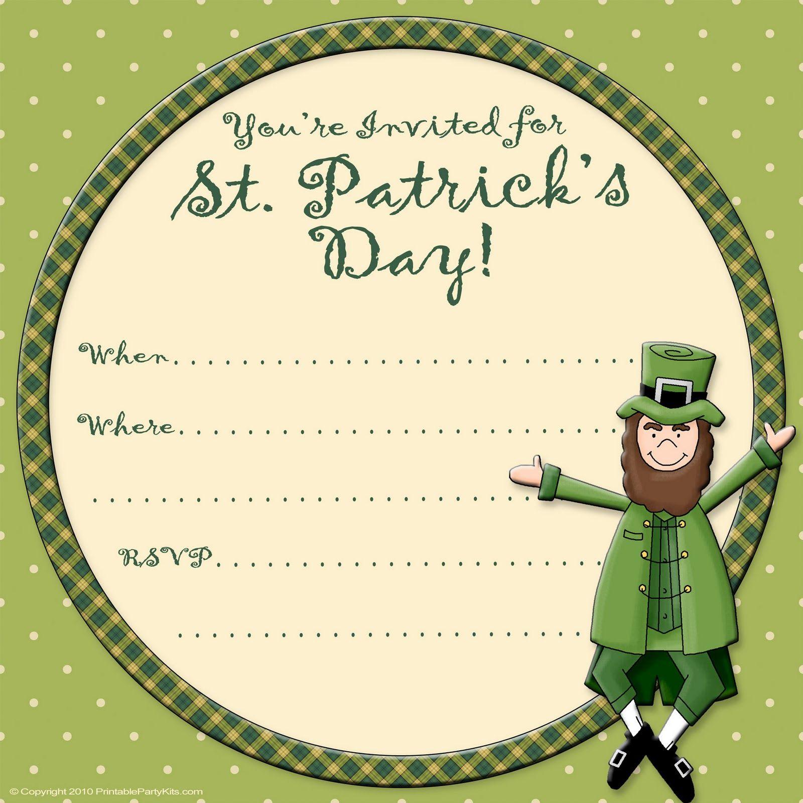 Invitation clipart st patricks day, Invitation st patricks.