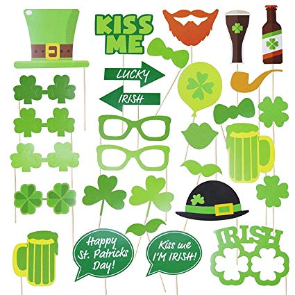 Amazon.com: Mosoan Funny St. Patricks Day Photo Booth Props.