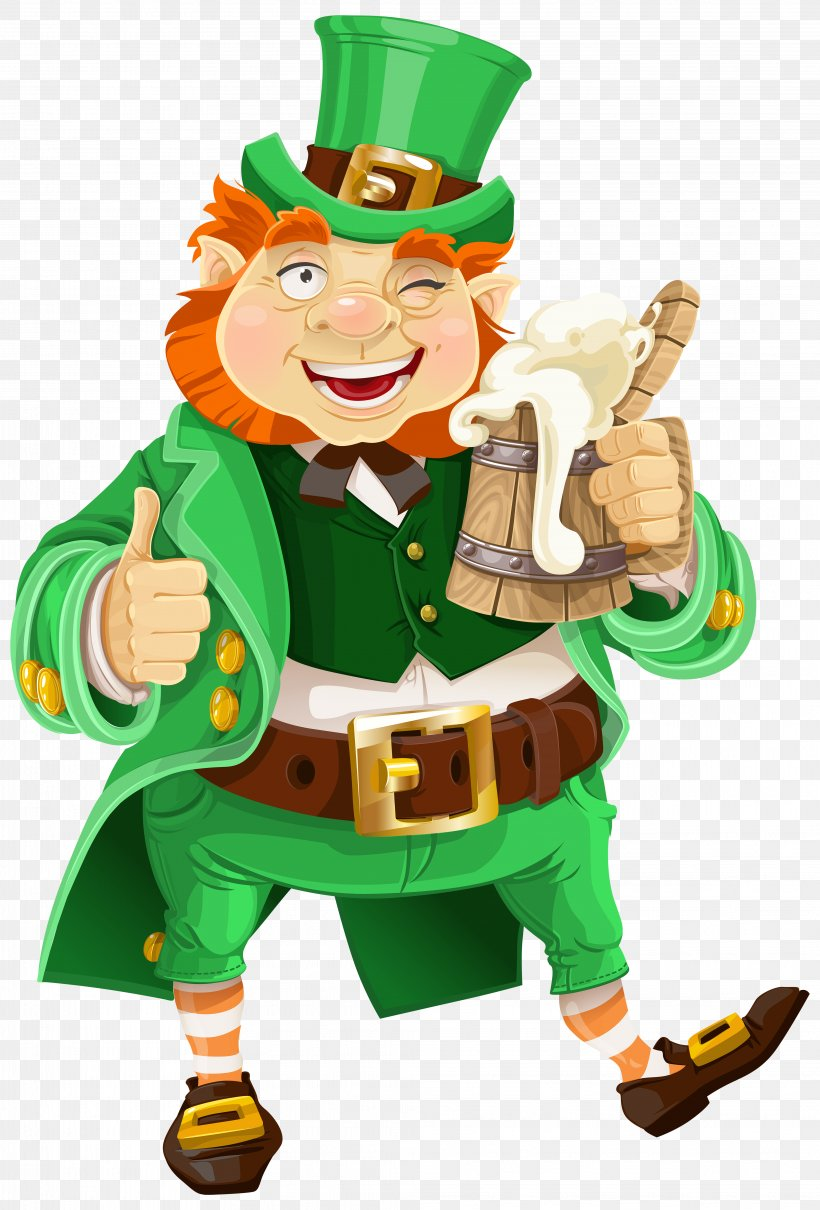 Beer Saint Patrick\'s Day Leprechaun Clip Art, PNG.