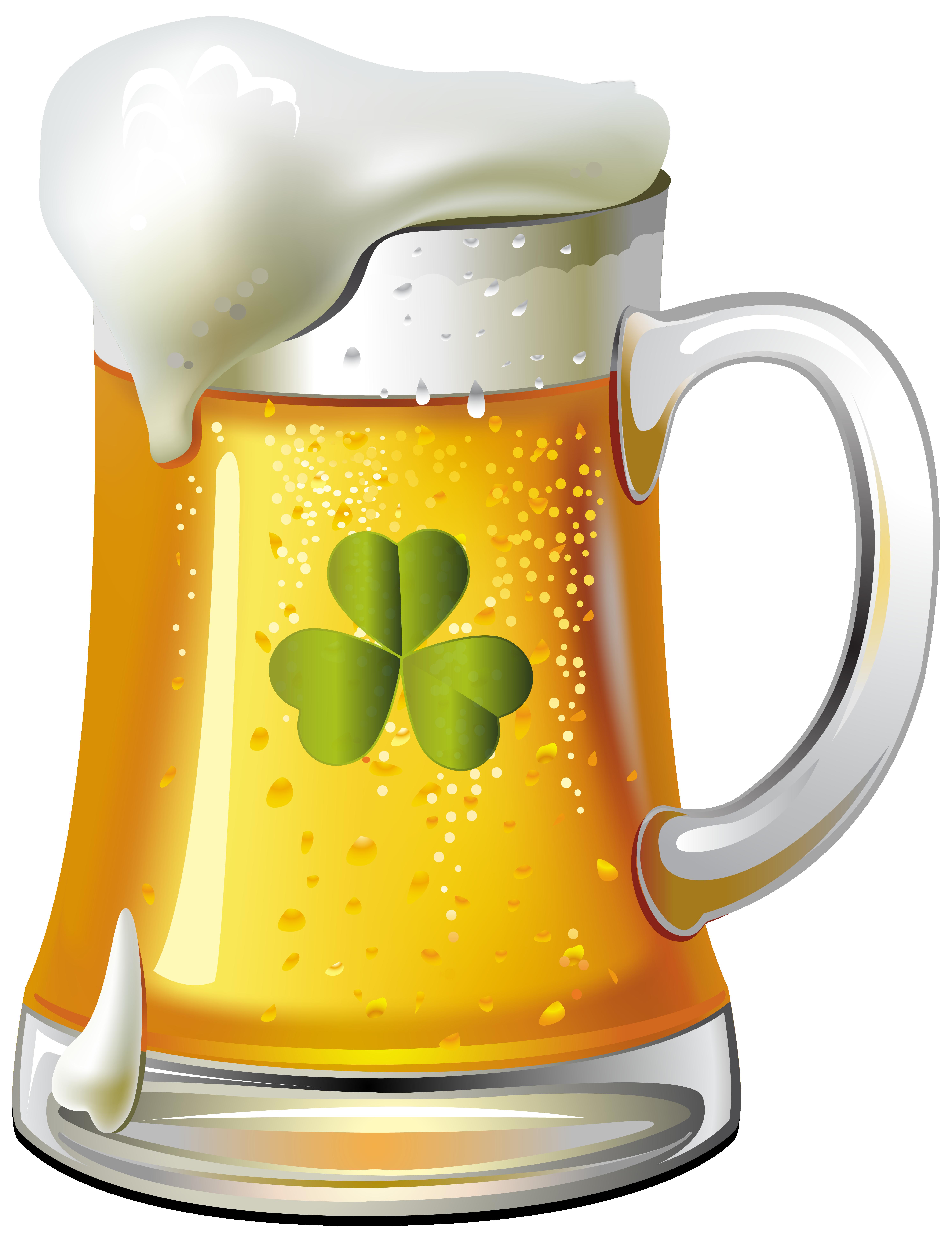 St Patricks Day Beer PNG Clip Art Image.