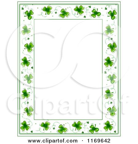St Patricks Day Border Clipart Calendar Jpeg.