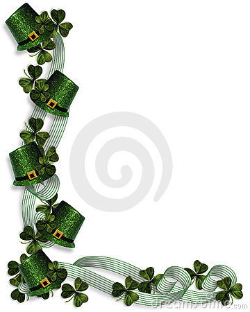 St Patrick's Day Border Stock Image.