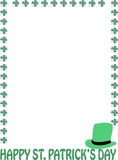 patrick's day frame png.