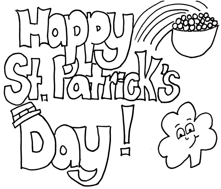 Black and white st patricks day clipart 2 » Clipart Station.