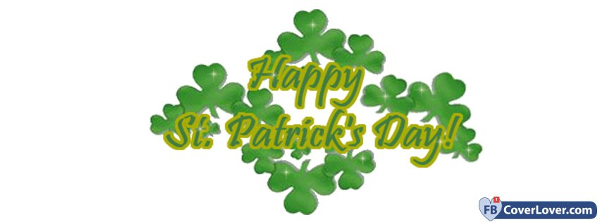 St Patricks Day Sign 2 seasonal Facebook Cover.