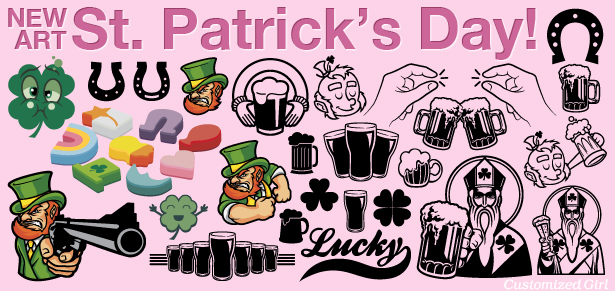 New Art for Custom St. Patrick\'s Day T.