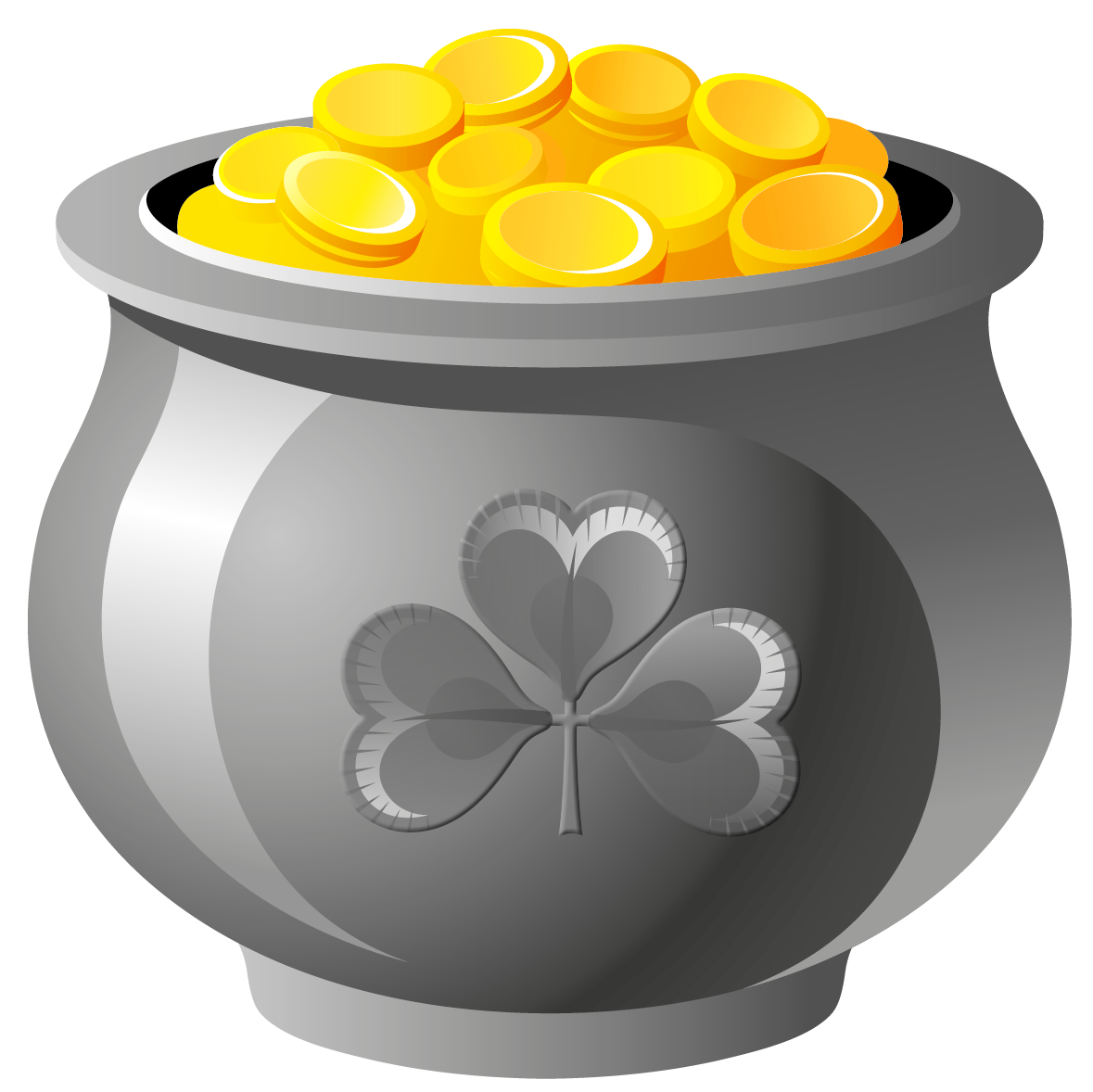 Saint Patricks Day Gold Clip art.