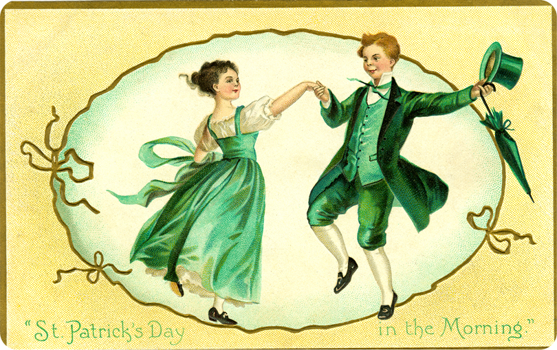 St Patricks Day Dance Clipart.