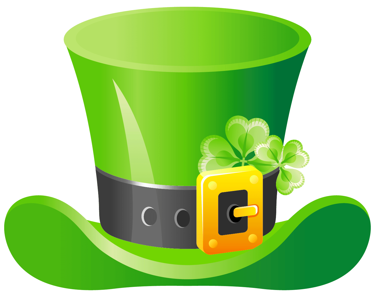 St Patrick\'s Day Green Hat transparent PNG.