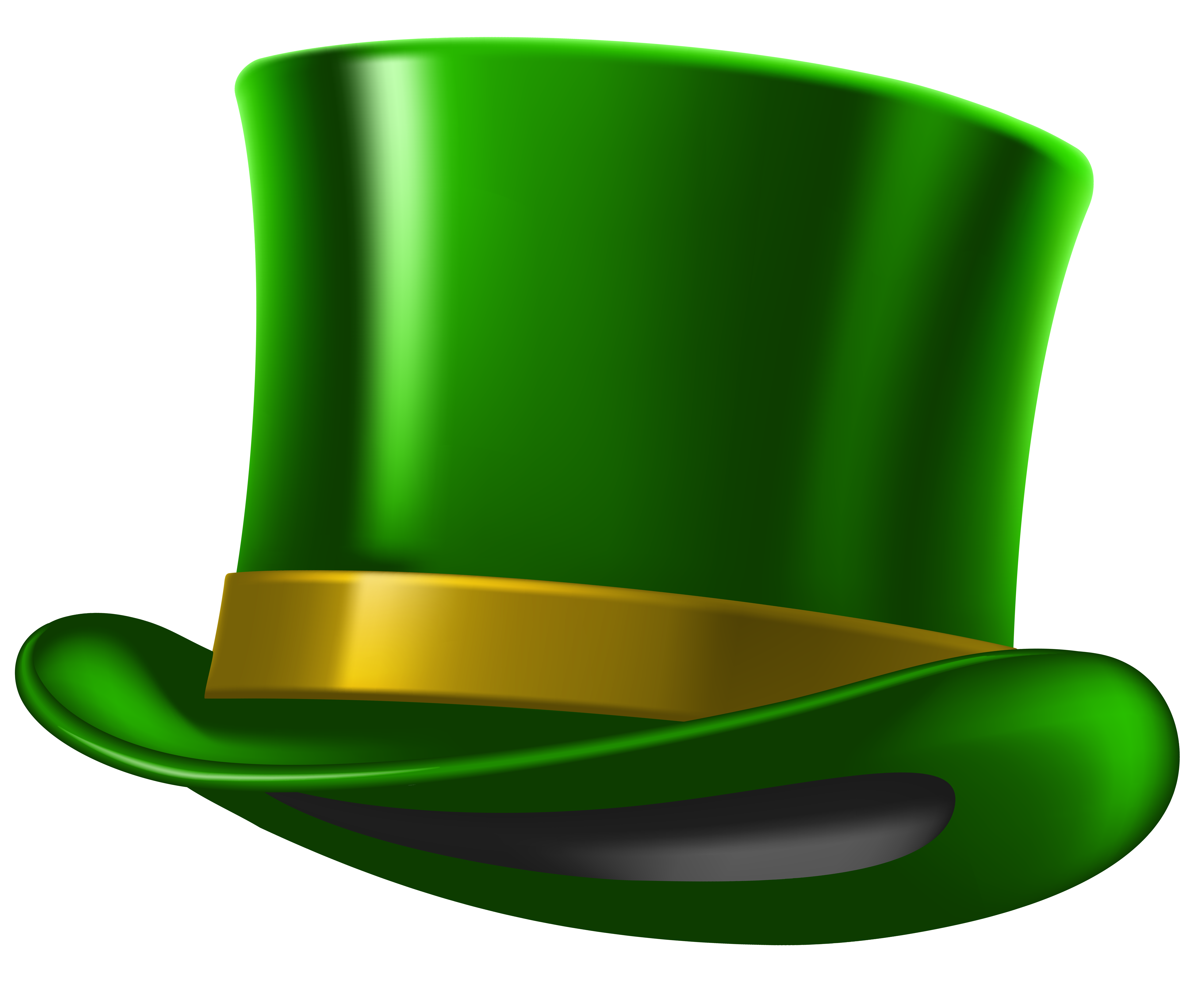 Green St Patricks Day Hat PNG Clipart Image.