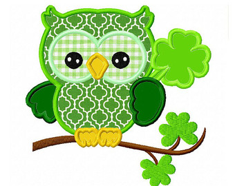 St Patrick\'s Day Owl Clipart.