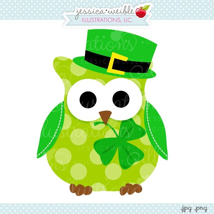 Patrick \' s day owl clipart.