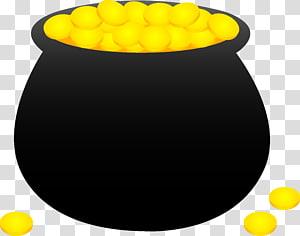 Gold coins illustration, Gold , Pot of Gold transparent.