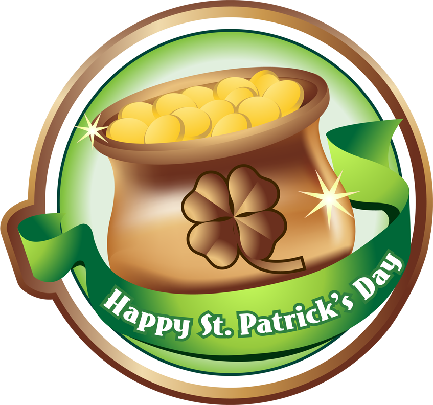Happy St Patrick's Day Clip Art.
