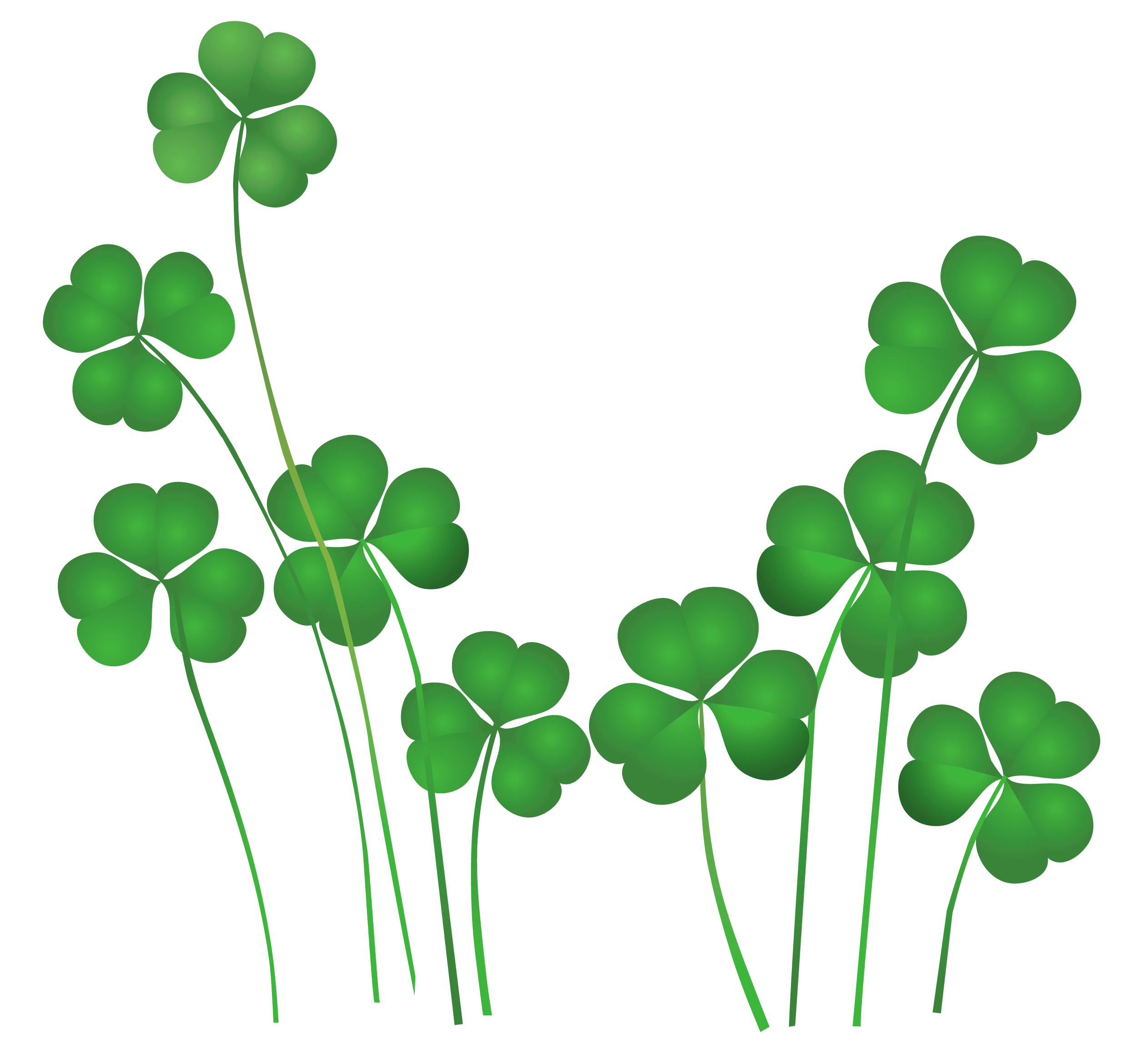 St Patricks Day Shamrock Clip Art N34 free image.