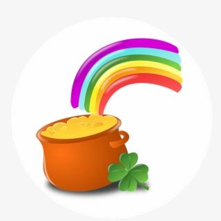St Patty\'s Day Rainbow , Transparent Cartoon, Free Cliparts.