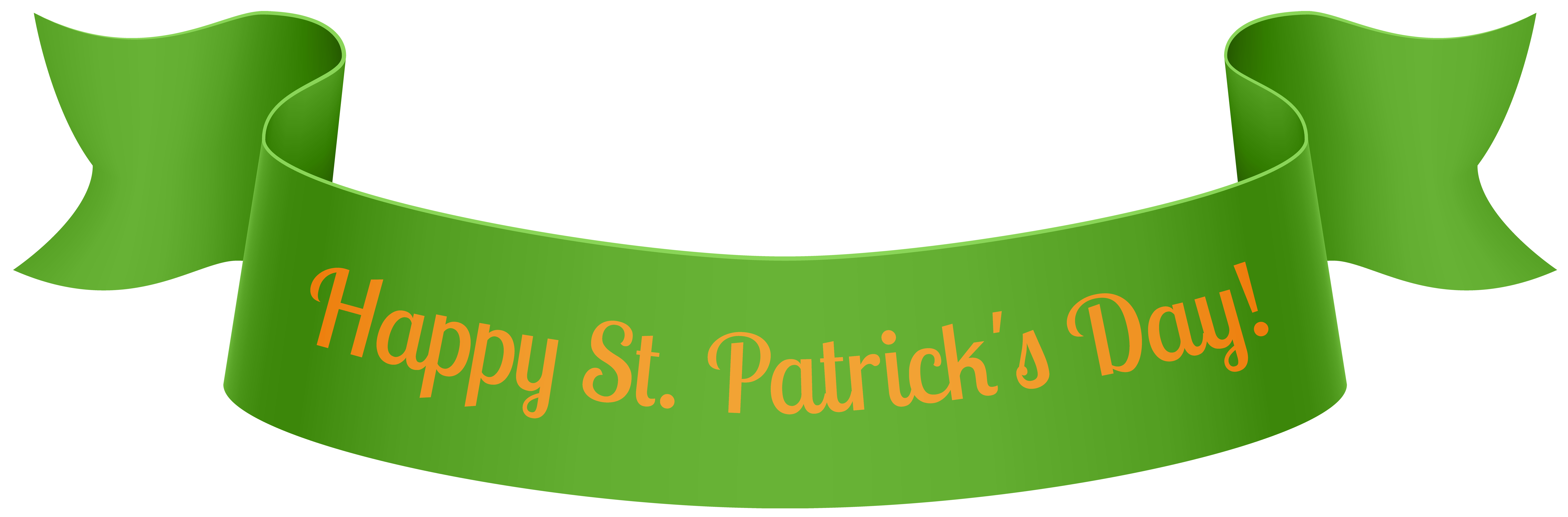St Patrick\'s Day Banner PNG Clip Art.
