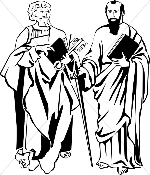 St. Peter and St. Paul in Black and White.