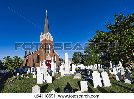 Stock Photography of USA, Delaware, Lewes. The historic St Peters.