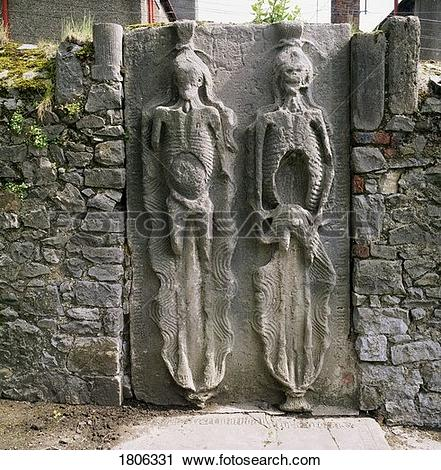 Stock Photography of Cadaver gravestone, cemetery of St. Peter's.