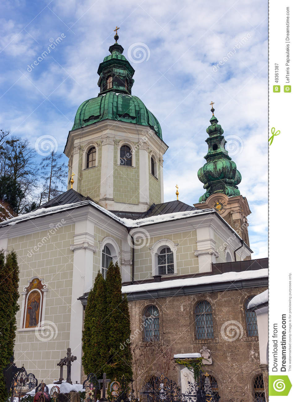 St. Peter Abbey Church, Salzburg, Austria Stock Photo.