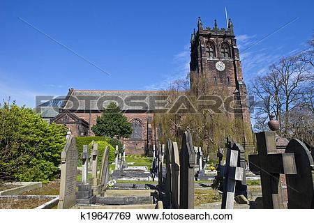 Stock Photograph of St. Peter's Church in Woolton, Liverpool.