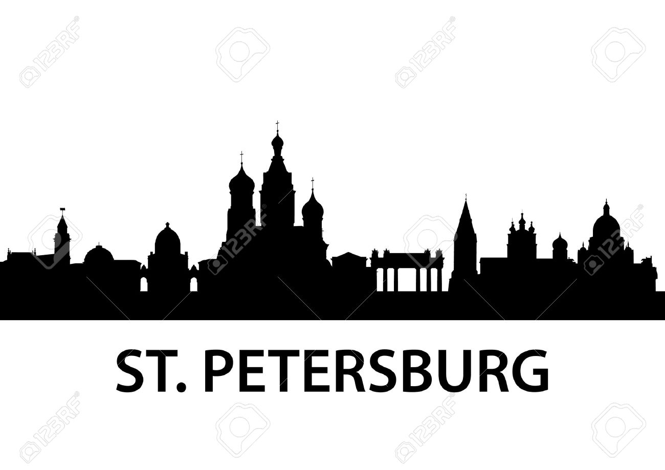 Detailed Illustration Of St. Petersburg, Russia Royalty Free.