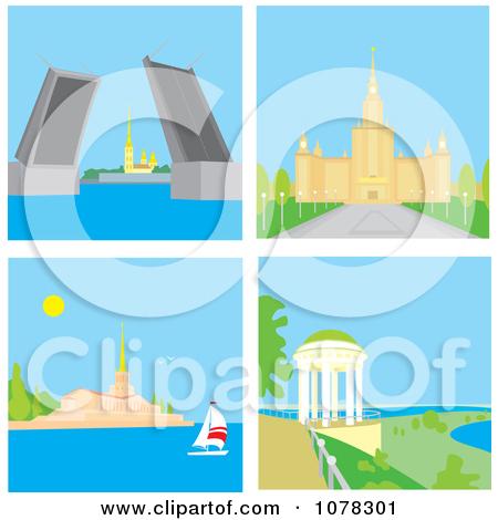 St Petersburg Russia Rising Bridge Moscow University Sochi Seaport.