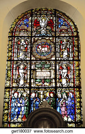 Picture of Stained glass window in a church, St. Philips Church.