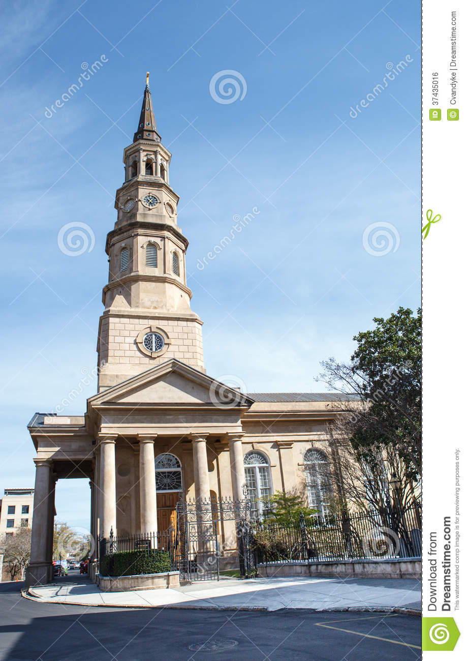 St Philips Episcopal Church Charleston SC Royalty Free Stock Image.