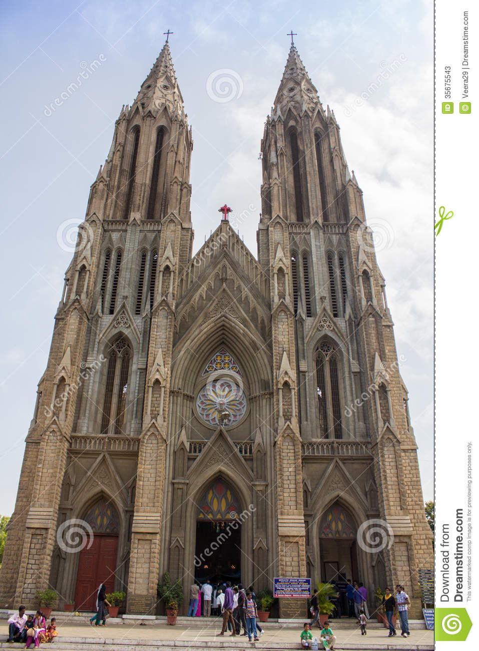 St Philomena Church Mysore Editorial Stock Photo.