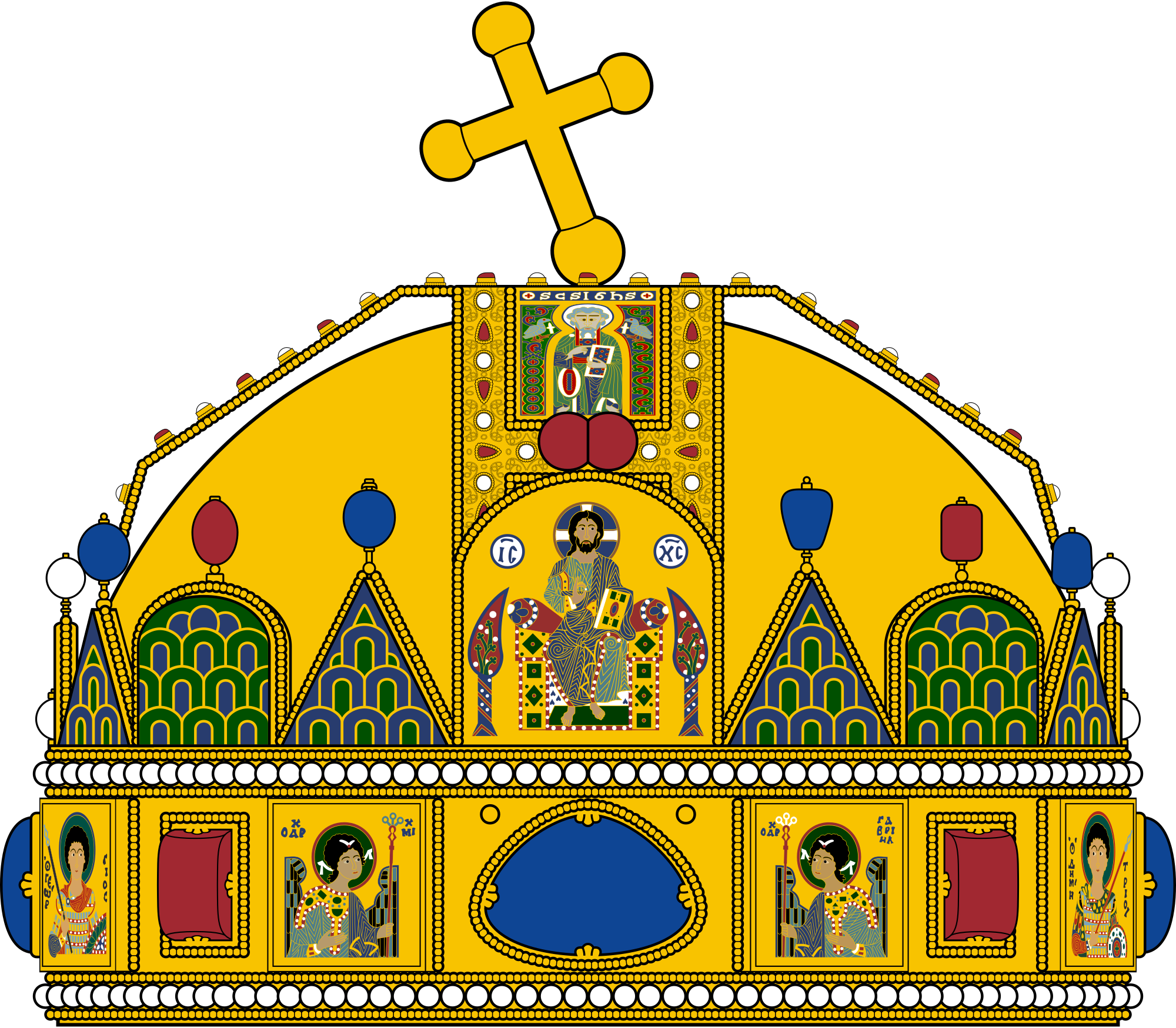 File:Crown of Saint Stephen.svg.
