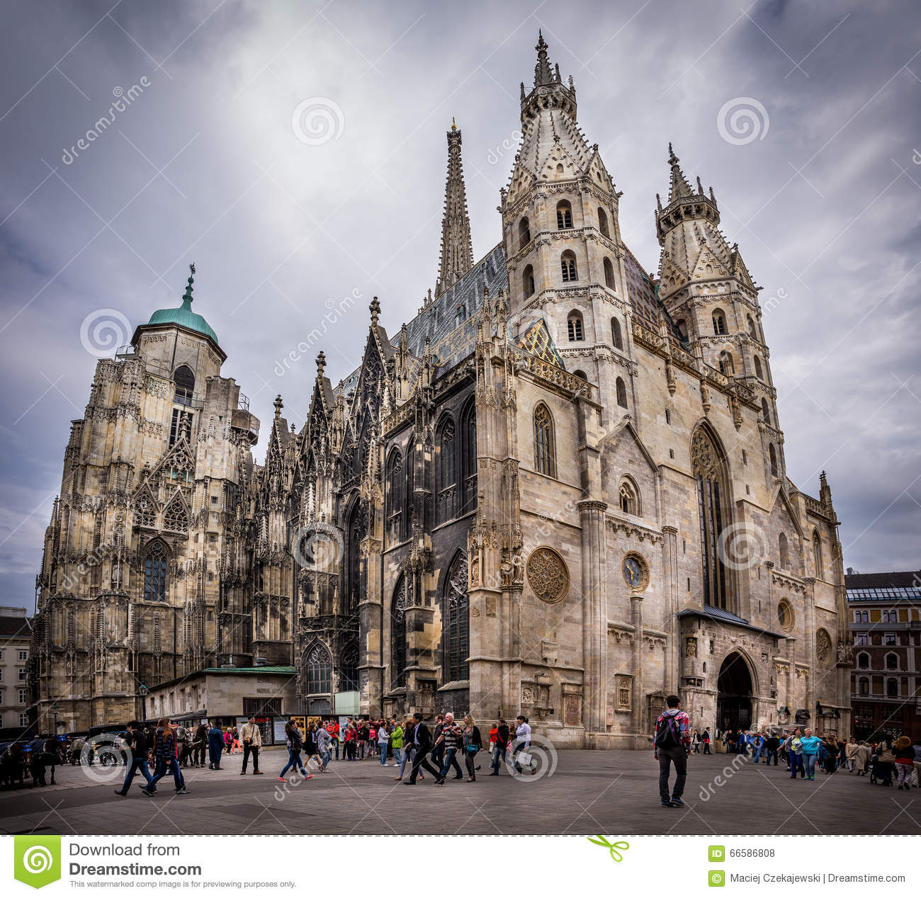 St. Stephen's Cathedral In Vienna Editorial Stock Image.