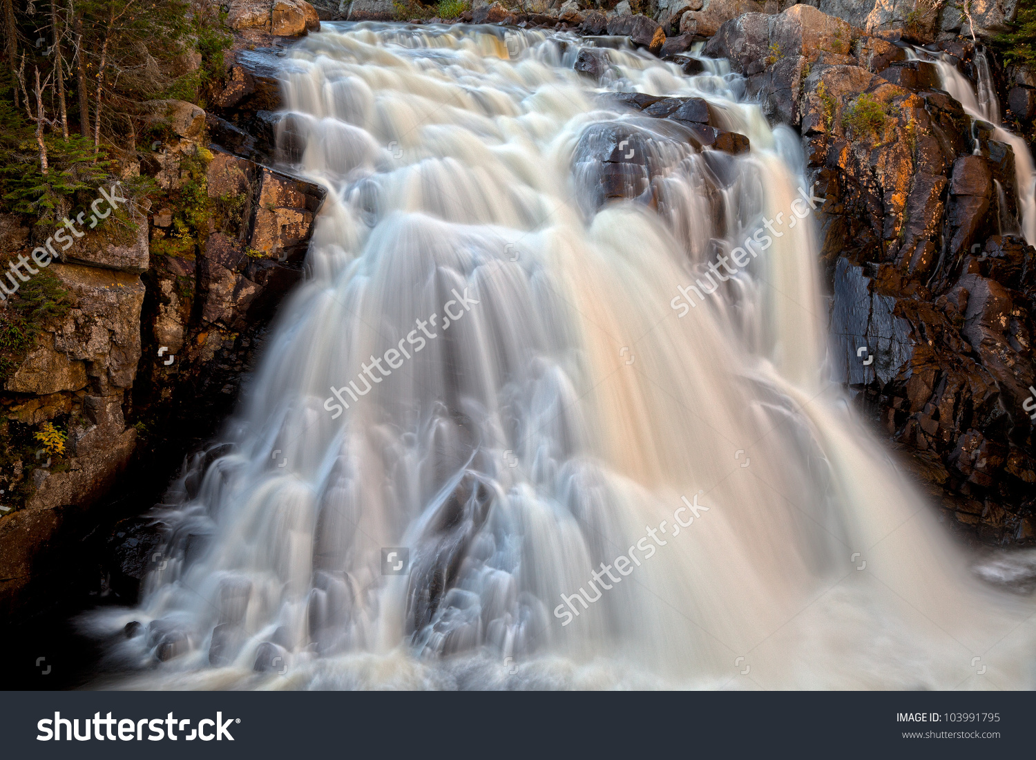 Long Exposure Waterfall Chutes Du Diable Stock Photo 103991795.