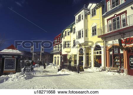 Pictures of Canada, Quebec, Tremblant Ski Resort at Mont Tremblant.
