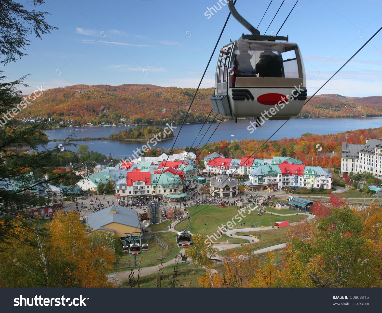 Mont Tremblant Resort Funicular Autumn Quebec Stock Photo 50808916.