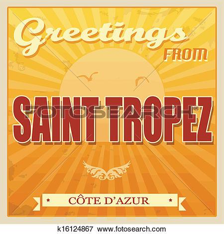 Clip Art of Saint Tropez, Cote d'Azur poster k16124867.