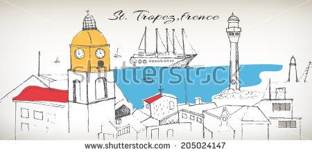St Tropez Stock Vectors & Vector Clip Art.