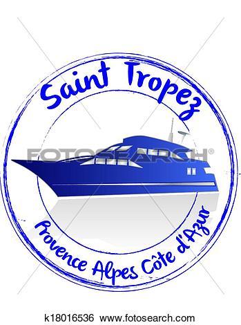 Clip Art of Saint Tropez k18016536.