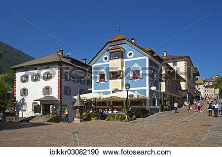 "Stock Photography of ""Village square, St. Ulrich, Bollschweil."
