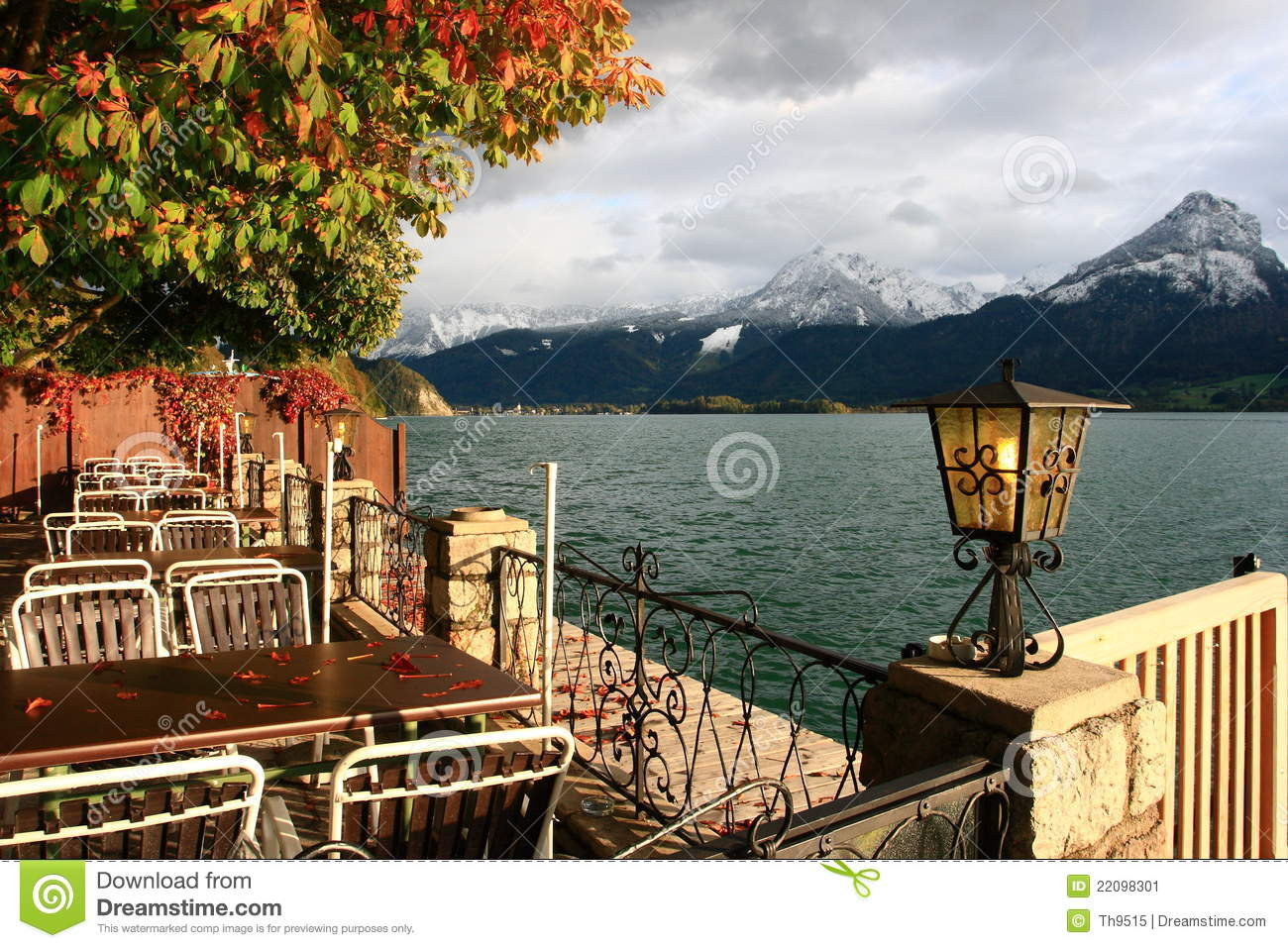 Town St. Wolfgang On Wolfgangsee Lake In Austria Stock Image.