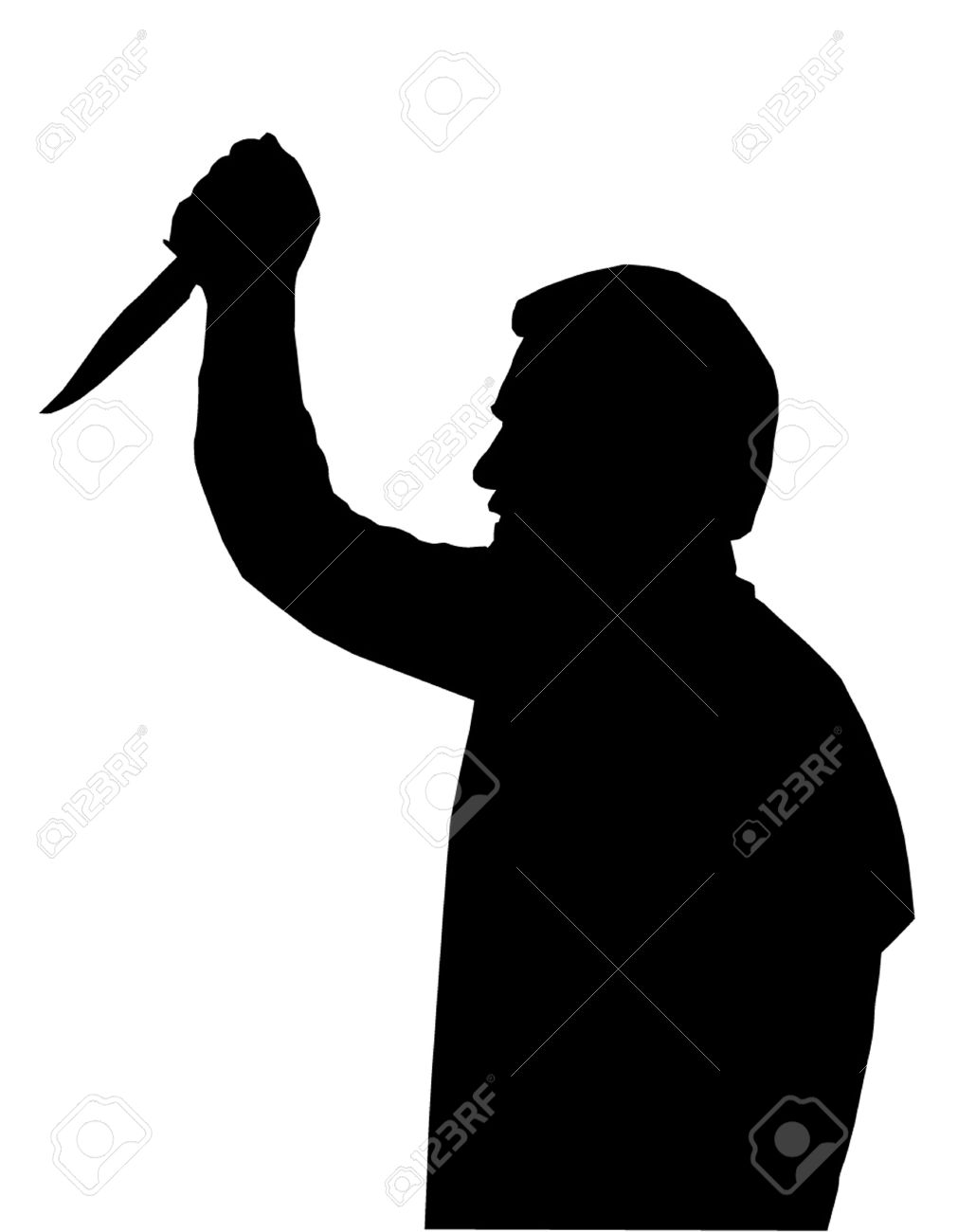 Man in suit with gun silhouette