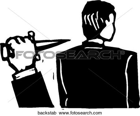 Clipart of Back Stabbing backstab.