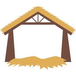 Silhouette Design Store: nativity stable.