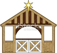 Christmas stable clipart.
