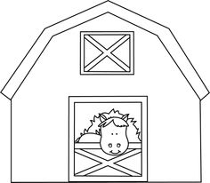Horse Stable Clipart Black And White.