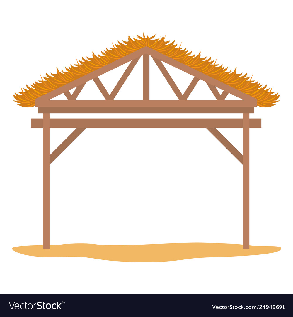 Wooden stable manger icon.