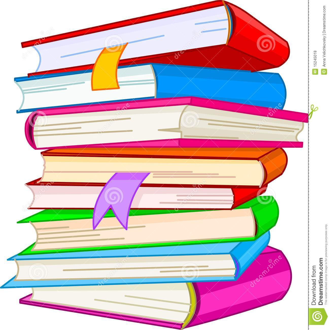 Book stacks clipart.