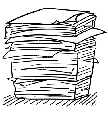Clip Art Stack Of Paper Clipart.