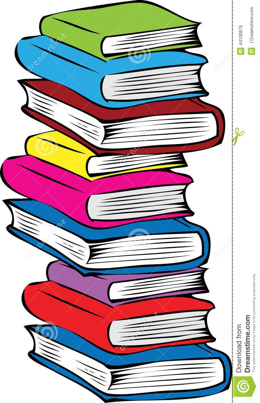 Cartoon Stack Of Books.